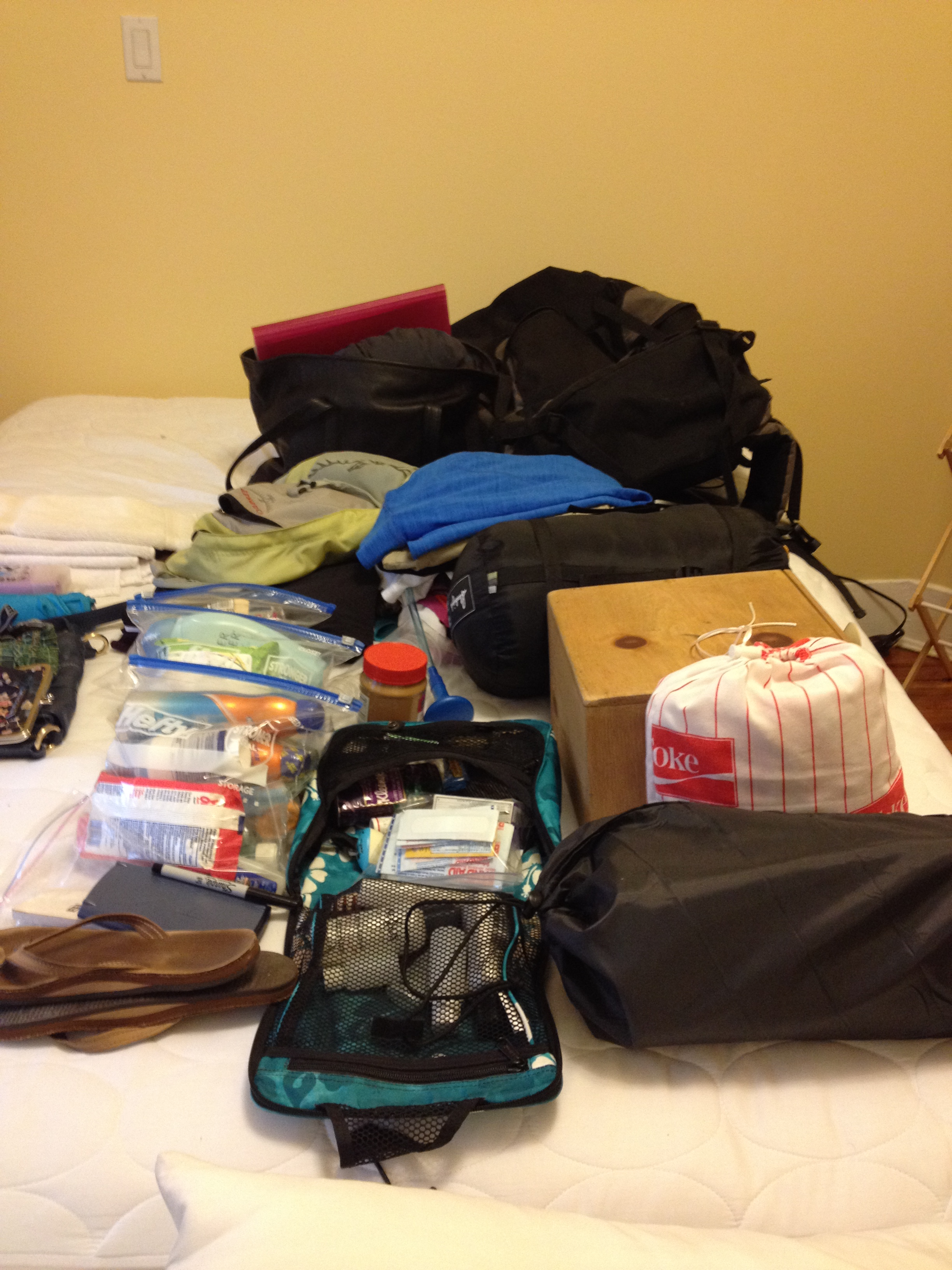 Lauren's incredibly neat packing job!